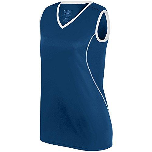 Augusta Sleeveless Sport Shirt - Augusta Sportswear WOMEN'S FIREBOLT JERSEY XL Navy/White