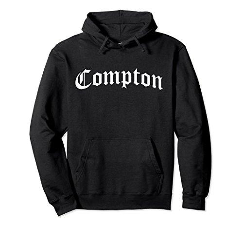 Unisex Compton, California West Coast Gangsta Rap Hoodie Medium Black
