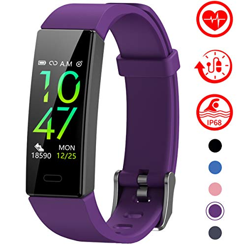 Mgaolo Fitness Tracker with Blood Pressure Heart Rate Sleep Monitor,10 Sport Modes IP68 Waterproof Activity Tracker Fit…