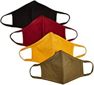 Quality Durables Unisex Adult and Kids 4-Pack Reusable Face Covering