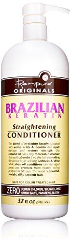 Renpure Originals 2001 Brazilian Keratin Straightening Conditioner, 32 Fluid Ounce