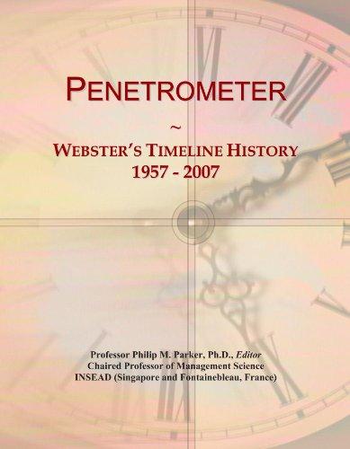Penetrometer: Webster's Timeline History, 1957 - 2007