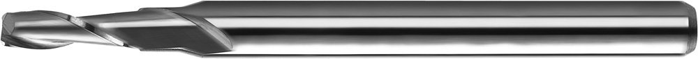 KYOCERA 1610-0394.118 Series 1610 Standard Length Square End Mill 3 mm Shank Diameter 3.00 mm Cutting Length 2 Flute Uncoated 30 Degree Angle Carbide 38 mm Length 1.00 mm Cutting Diameter