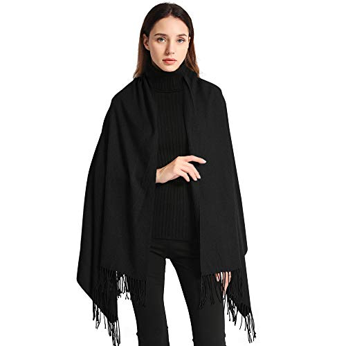 Arctic Penguin Women's Wraps and Shawls Elegant Soft Pashmina Scarf, Black, Size 78.5X27.5