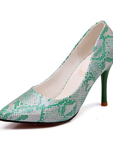 Green tacones Plata tacones 5 Cn43 Casual Rosa Stiletto us10 tacón negro Trabajo Y Mujer oficina 5 Uk8 Puntiagudos Ggx pu Eu42 qx6XwAtOA