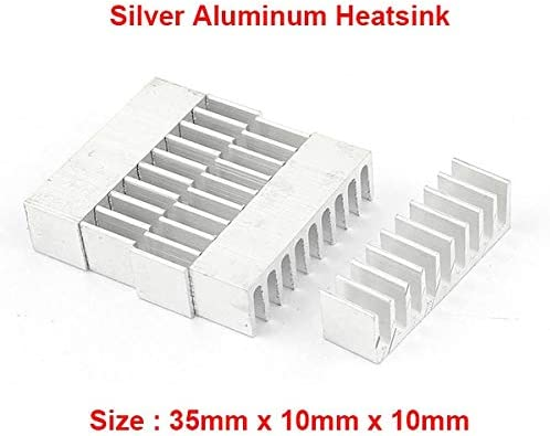 Blade Color: 35X10X10MM - Rarido 5pcs//lot Anodized Black Aluminum Heatsink 20x20x10mm Electronic Chip Cooling Radiator Cooler for Power IC,Electric chipset etc