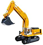 Happy Cherry 1:87 Scale Diecast Crawler Hydraulic Excavator Mixer Construction Vehicle Transport Car Carrier Truck Toy Model Cars for Boys
