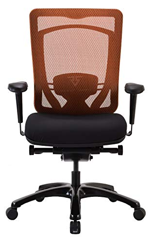 Raynor Gaming Energy Competition Series Office Computer Chair V-G-ECMP-ORG PC Mesh Back with Dual Layer Outlast Cooling, Swivel Tilt Tension, Lock, Detachable Lumbar Cushion, Foam Molded Seat, Orange