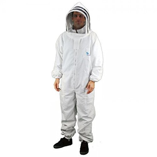 Professional Grade Bee Suits, Complete Bee Keeper Suit With Gloves - X Large Size