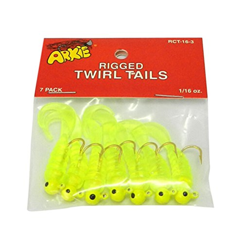 Team-Management Fishing Jigs Lure Sea Bass Soft Bait Jig Head Twirl Tails Worm Baits 7 Pcs/Lot (Worm Head Jig)