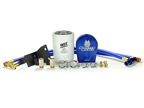 Coolant Filtration System by Sinister Diesel | for Ford 2003-2007 F-250, F-350, & Excursion 6.0L Diesel with All Hardware - No Part Removal or Drilling Required For Filter - Easy Installation