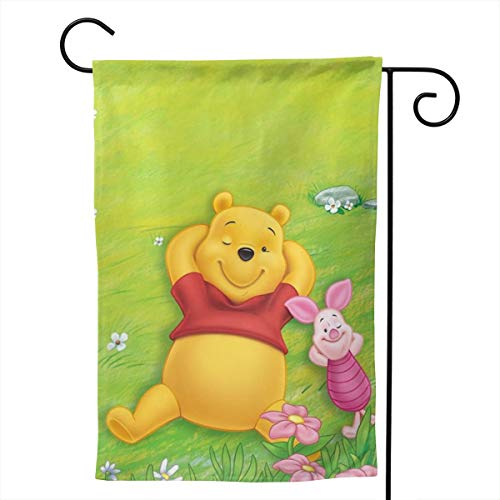 - LOSJDUU Winnie The Pooh Spring Unique Double Sided Garden Flag Yard Decorations Flag for Outdoor Use 100% Waterproof Polyester Flags