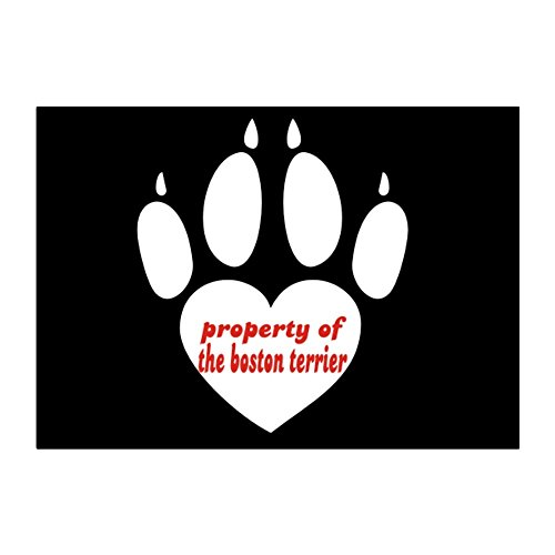 Teeburon Property Of Boston Terrier Pack Of 4 Stickers