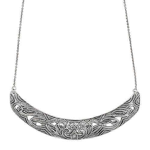 Silpada 'Ahead of the Curve' Necklace in Oxidized Sterling Silver