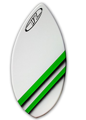 Wave Zone Edge - 41'' Fiberglass Skimboard for Riders up to 130 Lbs - Green by Wave Zone Skimboards