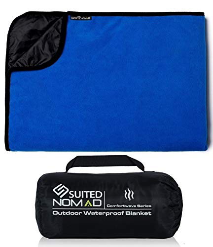Premium XL Waterproof/Windproof Outdoor Blanket with Thermal Fencing Liner|Extreme Weather Stadium Blanket -Great for Camping,Sports,Festivals,Picnic,Car,Dog