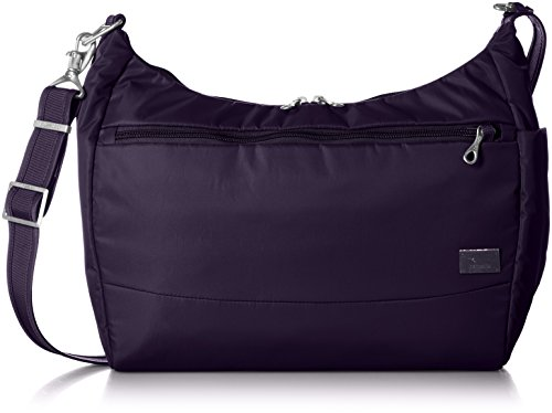 PacSafe Women's Citysafe Cs200 Anti-Theft Handbag Travel Cross-Body Bag, Mulberry, One Size by Pacsafe (Image #12)