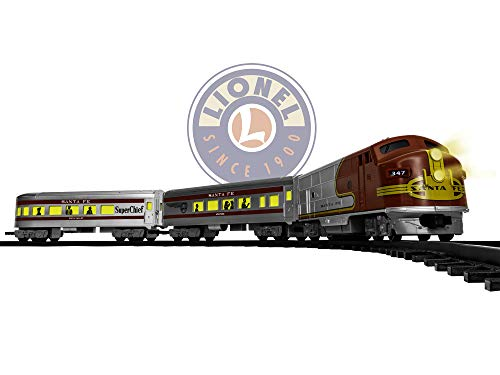 (Lionel Santa Fe Diesel Battery-Powered Model Train Set Ready to Play w/ Remote)