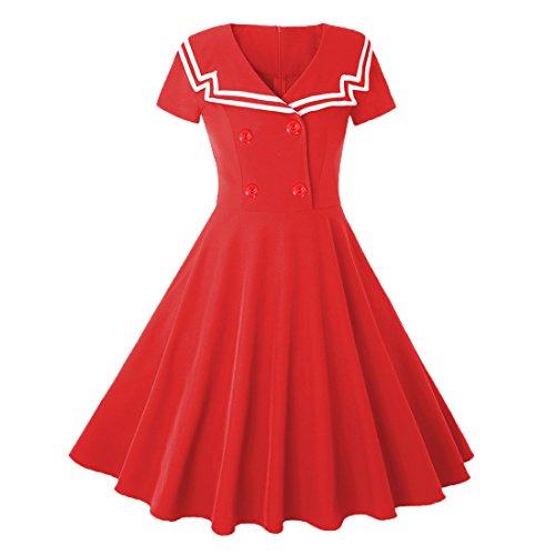 لباس مجلسی لباس مجلسی زنانه Ez-sofei Vines 1950 Navy Sailor لباس یکنواخت