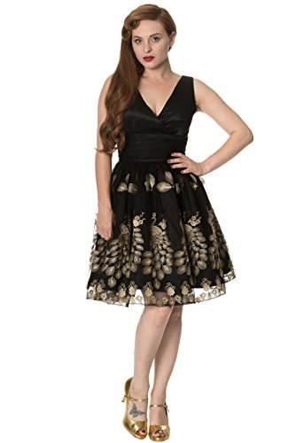 Banned FRONT 5163 Kleid MOONLIGHT DRESS CROSS by Black Days ESCAPE Dancing qzCwfEnq