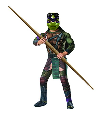 Rubies Teenage Mutant Ninja Turtles Deluxe Muscle-Chest Donatello Costume, Child Small -