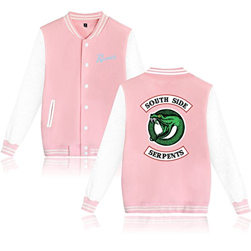 Pullover Cappuccio Sweatshirt Hooded Giacca Southside Serpents Felpa Maniche Lunghe Hoodie Enjoyyourlife Con Maglione Pink Sweater Riverdale Maglietta Wpv8wXRqx4