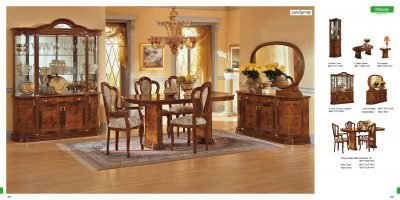 ESF MILADY 7 Pieces Elegant Classic Walnut Italian Dining room set .