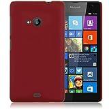 WOW Imagine Matte Rubberised Hard Case Back Cover For Nokia Microsoft Lumia 535 (Maroon Wine Red)