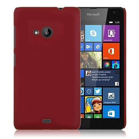 WOW Imagine Matte Rubberised Hard Case Back Cover for Nokia Microsoft Lumia 535  Maroon Wine Red  Mobile Accessories