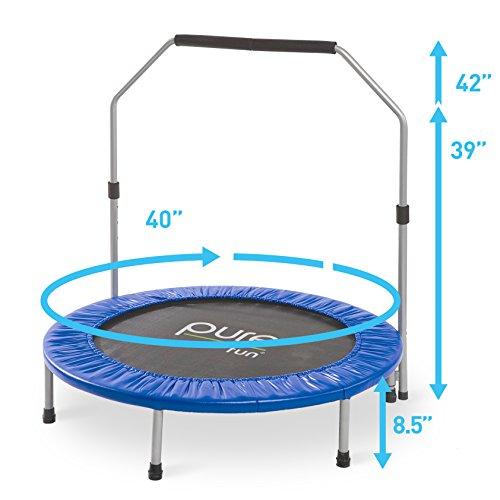"Pure Fun 40"" Mini Rebounder Trampoline With Adjustable"