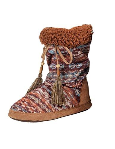 Blazin Roxx Dames Rory Earthtone Zuidwestelijke Pantoffels, Namaakbont, Veelkleurig Gebreid