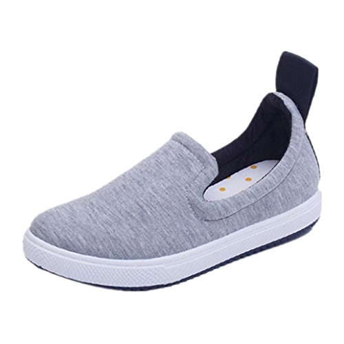 Round Flats Low Girls Womens Clode® Slip School Sneakers Comfort Top Loafers Gray Work on Shoes Toe Ladies WBIwnBxqE
