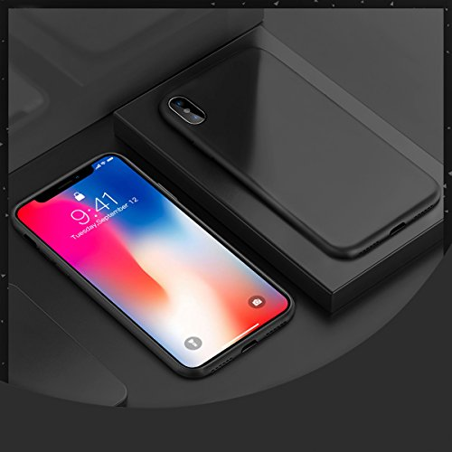 Ztotop iPhone X Case, Ultra Slim Liquid Silicone Gel Rubber Anti-Scratch Shockproof 5.8 Inch Minimalist Design Cover for Apple iPhone X/10 with Honeycomb Grid Pattern, (Curve Silicone Case)