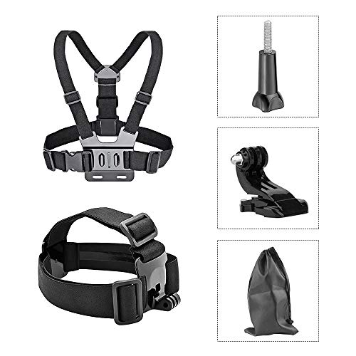 MOUNTDOG Action Camera Accessories Head Strap Chest Strap Mount for Gopro Hero 7/6/5/Session/4/3/2/ Action Cameras- Anti-Slip Design (Action Cam Chest Strap)