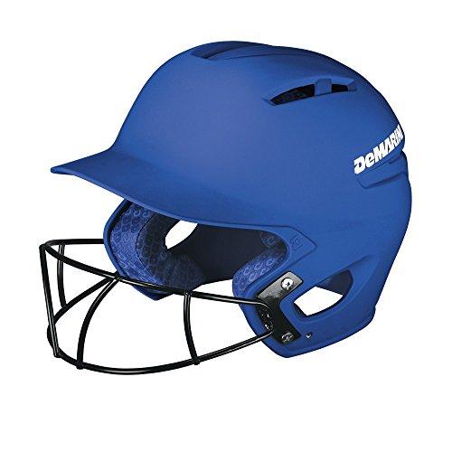 Royal Blue Baseball Batting Helmet - DeMarini Paradox Batting Helmet with Softball Protective Mask, Royal Blue, Small/Medium