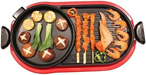 ZLDGYG Barbecue électrique intérieur Hot Pot Multifonctionnel Teppanyaki Grill Pot, Capacité for 6 Personnes Famille Rassemblements
