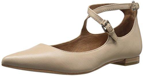 Frye Womens Sienna Cross Ballet Flat Beige
