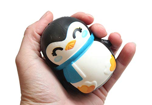 Squishy Winter Penguin - Slow Rise Squish Foam Toy - Winter Holiday Christmas Stress Fidget Toy]()