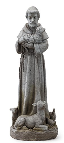 Napco 11152 St. Francis with Animals Garden Statue, 28