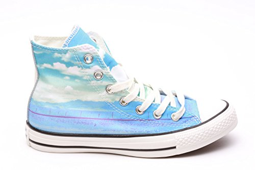 Price comparison product image Converse Womens Chuck Taylor All Star Prints Spray Paint Blue / Motel / Egret Sneaker - 6.5