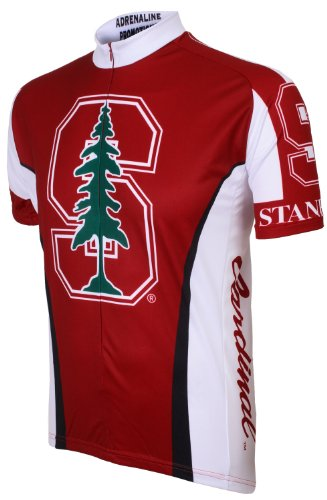 Adrenaline Promotions Stanford Cycling Jersey,Medium, Red ()