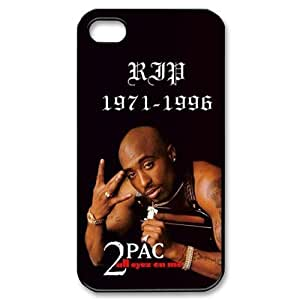 2Pac Iphone 4 4S Case Tupac Amaru Shakur Cases Cover Black Sides at abcabcbig store