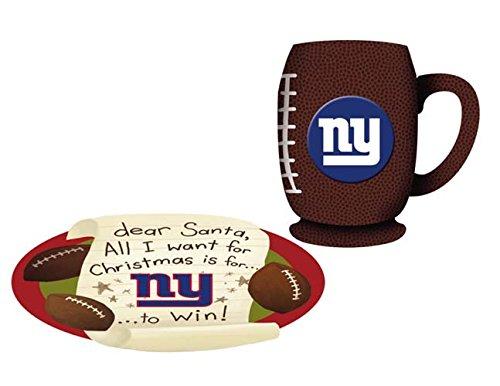 New York Giants Cookies For Santa Plate and Mug Set (Giants York New Mug)