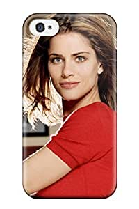 Iphone 4/4s Hard Back With Bumper Silicone Gel Tpu Case Cover Women Amanda Peet