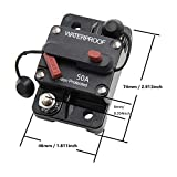 STETION 50 Amp Circuit Breaker Trolling with Manual Reset Car Marine Trolling Motors Boat ATV Manual Power Protect for Audio System Fuse 12V-48VDC Waterproof