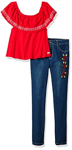 kensie Girls' Toddler Fashion Top and Legging Set (More Styles Available), Engine Red KZ98, 2T from kensie