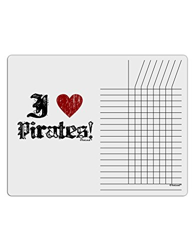 [TooLoud I Heart Pirates Chore List Grid Dry Erase Board] (Somali Pirate Costume)