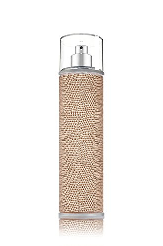 Bath & Body Works - Tan Embossed - Metal - Fine Fragrance Mist Cover Sleeve Holder