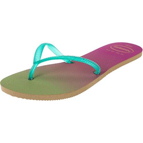Havaianas - Sandalias de Caucho para mujer Beige/Green