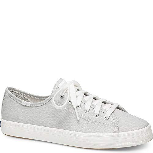 Keds Women's Kickstart Mini Chambray Sneaker, Light Grey, 7